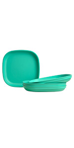 Flat plates; plates; plastic plates; plastic flat plates; childrens flat plate;toddler's flat plate