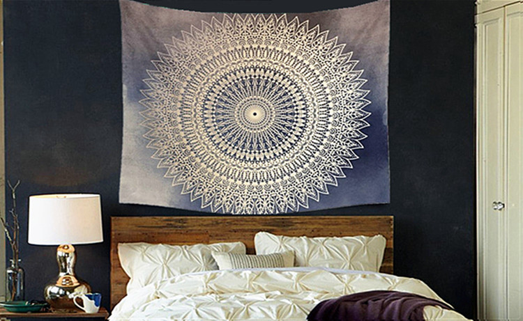 Dremisland Indian Wall Decor Hippie Tapestries Bohemian Mandala Tapestry  Wall Hanging Throw