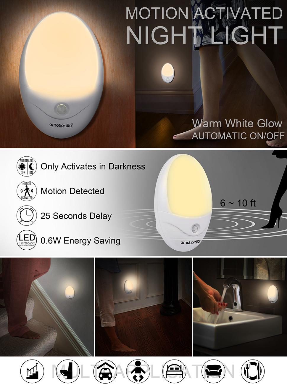 Led Night Light Motion Activated Night Light Emotionlite