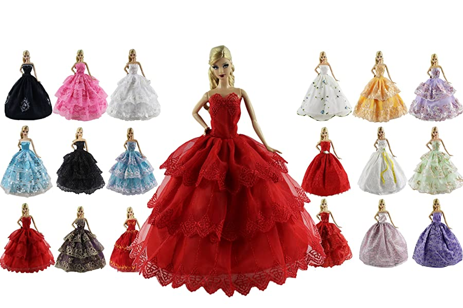 Traditional Chinese Dress Fashion Outfit 11.5/'/' Dolls Clothes Gown X-mas Gift