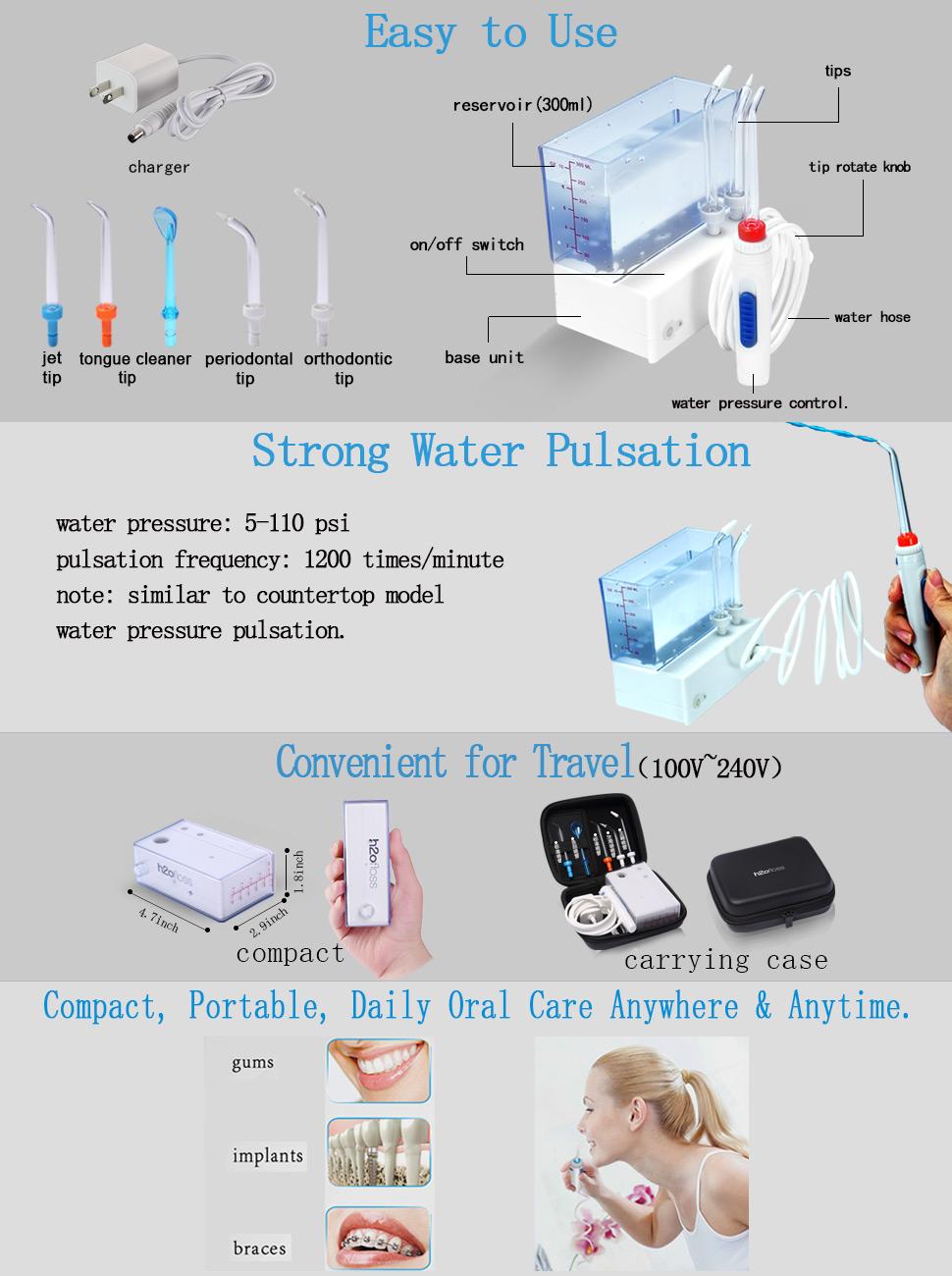 H2ofloss Travel Dental Flosser Review (HF-3 Premium) • Water Flosser