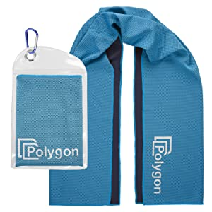 Polygon instant cooling towel