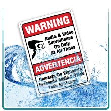 water resistant sign
