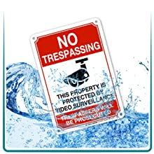RAIN WATER WEATHERPROOF ALUMINUM SIGNS