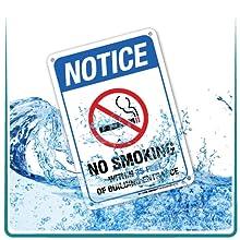 water rain weatherproof metal signs