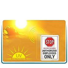 UV RAY WEATHERPROOF SIGNS