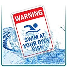 water weather proof rust free aluminum signs