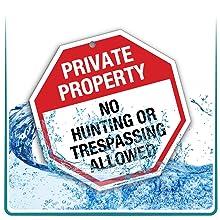 uv water weatherproof aluminum rust free sign