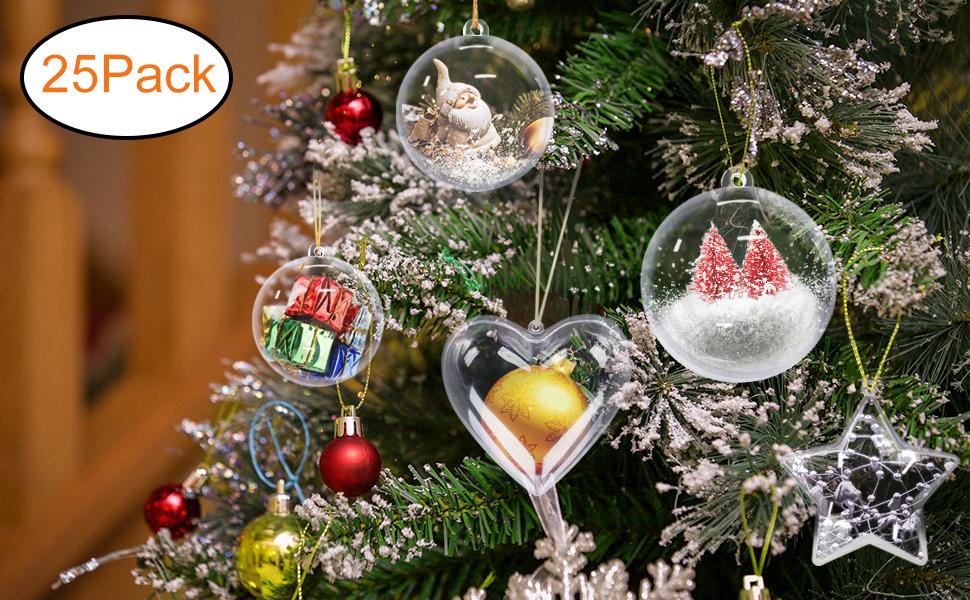 Amazon Com Gamexcel Clear Plastic Ornaments Balls Bath Bomb Mold