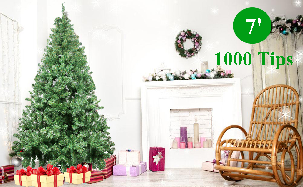 Celebrationlight Christmas Tree Xmas Tree Artificial Christmas Pine Trees 1000 Branch Tips For Lush Looking 3 Separable Sections Tree Stand