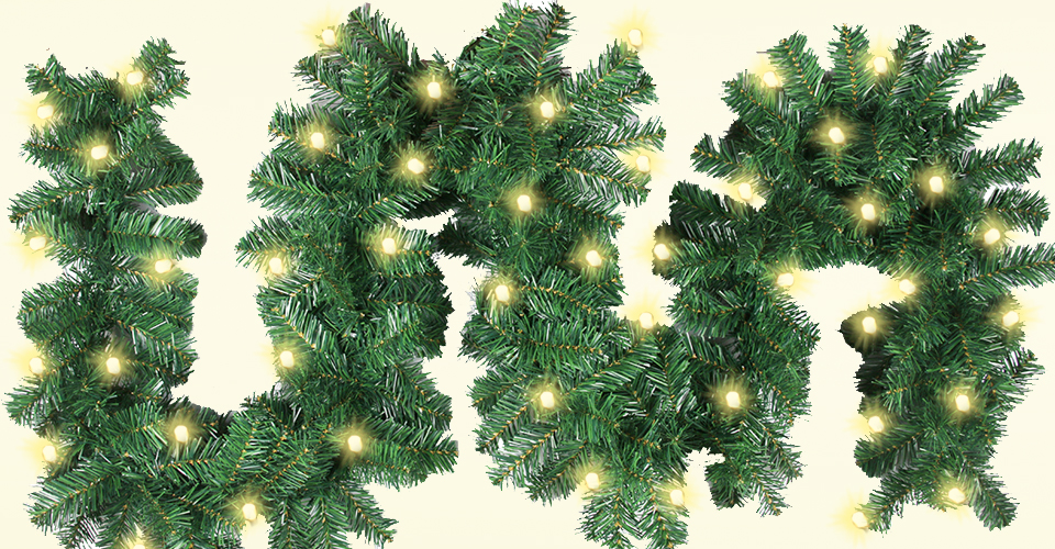Amazon.com: Christmas Garland With 40 LED Lights