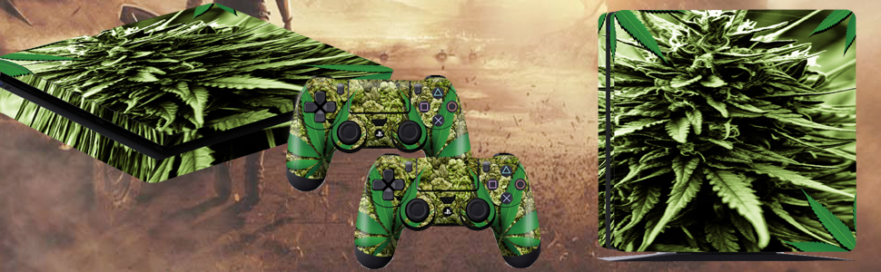 Amazon.com: PS4 Slim Controller Skins- Decals for ...