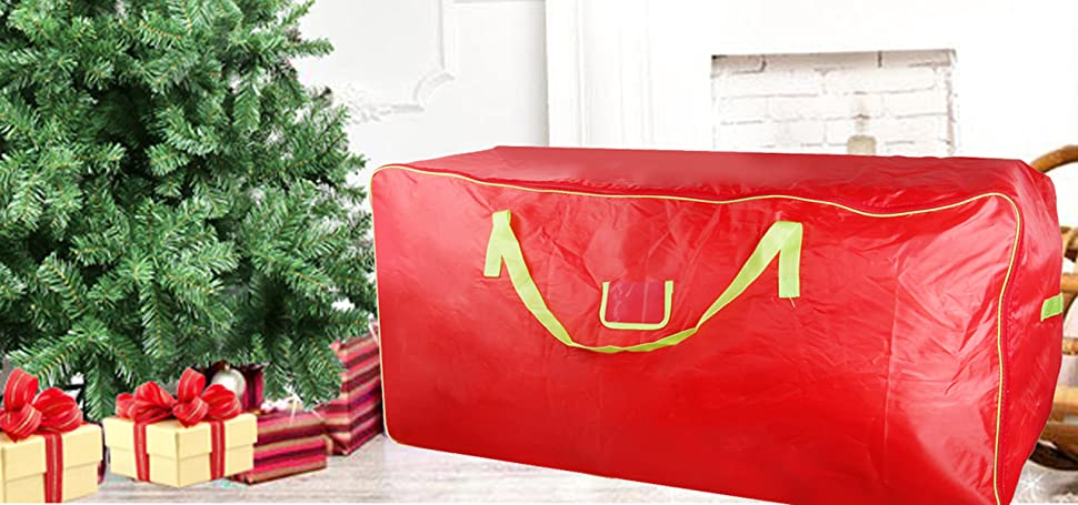 Charmant Christmas Tree Storage Bag   Xmas Large Tree Container   Reinforced Wide  Handle And Double Sleek Zipper   Heavy Duty To Hold 9ft Disassembled  Artificial ...