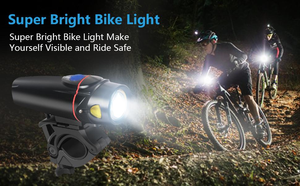 Super Bright Aluminum Bicycle Head /& Taillight Set Water Resistant Lumen 300LM