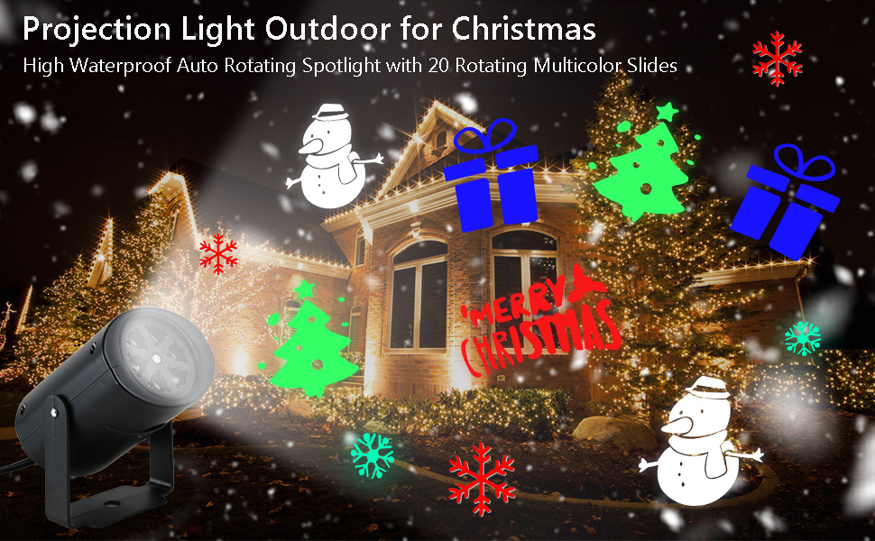 Access Control Kits Rotate Laser Light Led Christmas Decoration Outdoor Landscape Lawn Lamp Us Plug Red & Green L Access Control