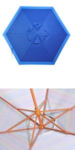 06cf28295c Amazon.com: Shadezilla 7-8 ft Beach Umbrella | Patio Market ...