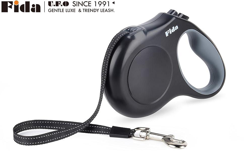 Black retractable leash