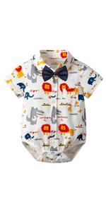 Baby Boy Gentleman Animal Romper