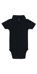 Solid Baby Boys Polo Bodysuit for Newborn Toddlers