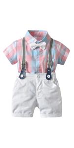 Infant Baby Boys Gentleman Outfits Suits Set 3PCS