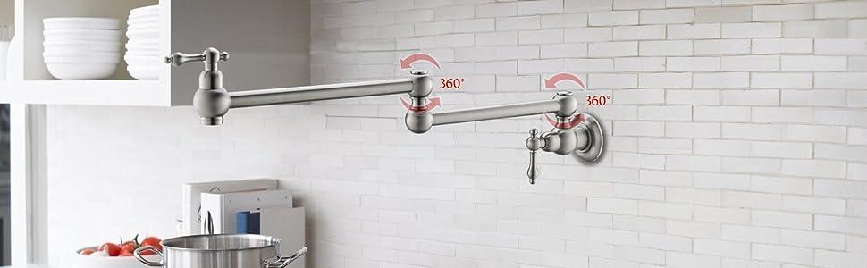 havin stove pot filler faucet kitchen faucet in brush nickel
