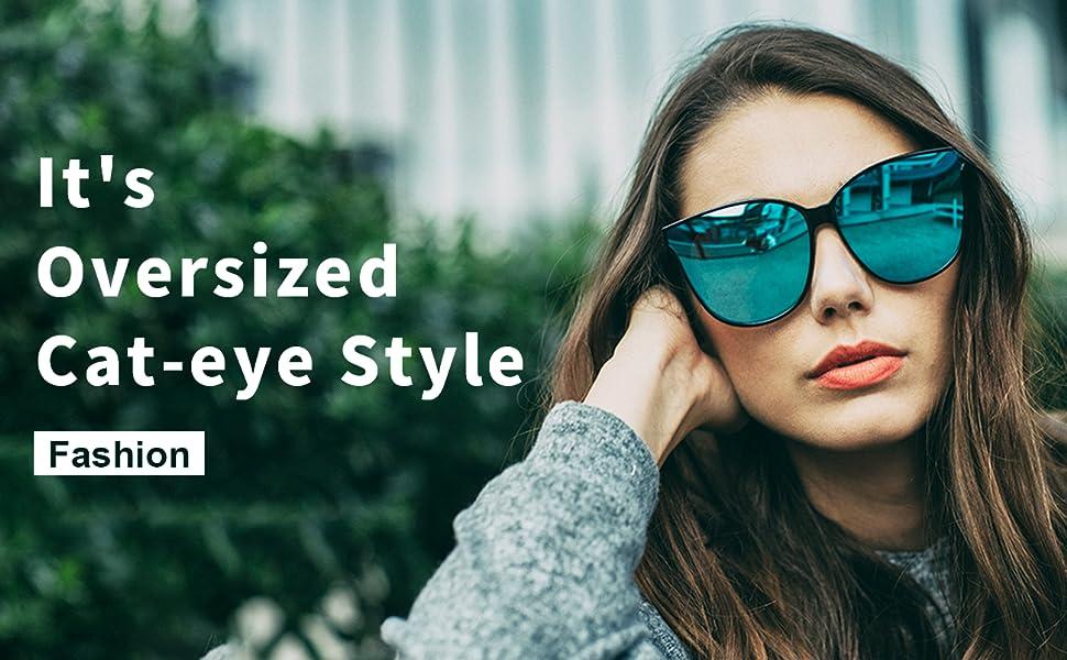 LMAOCLAN Women Polarized Sunglasses Luxury Fashion Cat Eye Ladies Vintage Brand