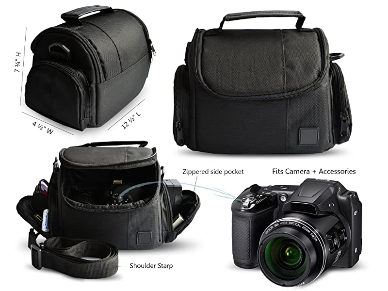 SX400 IS Black for Canon SX60 HS Camera Case Size M