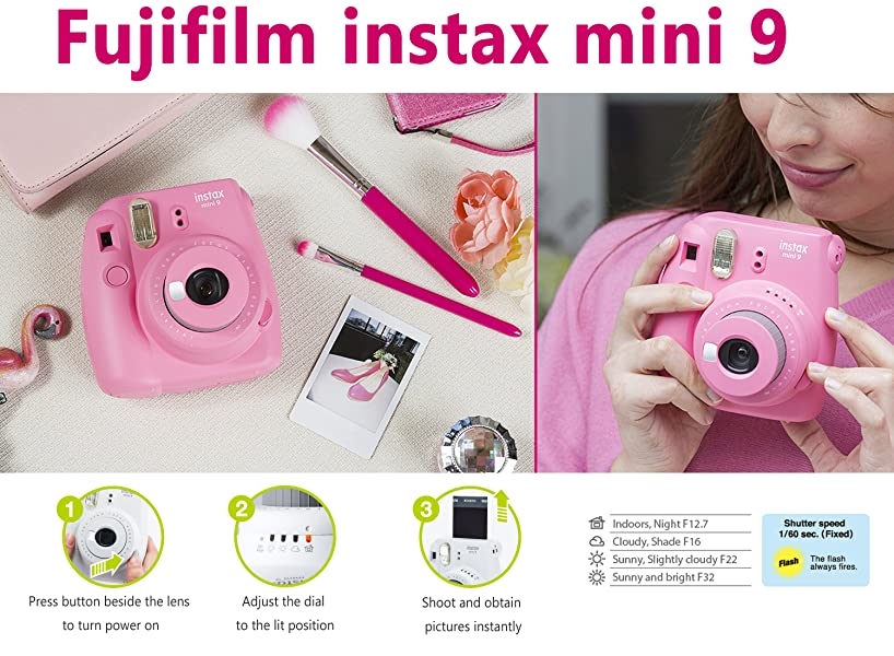 Amazon Com Fujifilm Instax Mini 9 Instant Camera