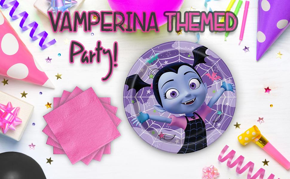 Amazon.com: Vampirina suministros de fiesta para 16 – platos ...