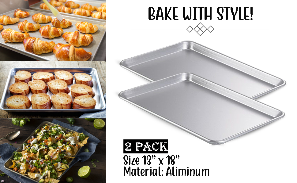half size Baking durable sheets pan commercial aluminum stainless steel strong professional bake