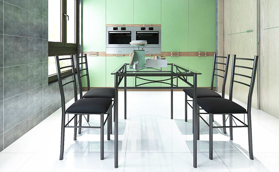 VECELO Dining Table Set