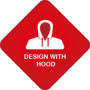 hooded raincoat women