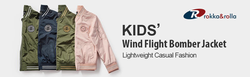 fe42dbafa Amazon.com  Rokka Rolla Boys  Zip Up Lightweight Casual Fashion Wind ...