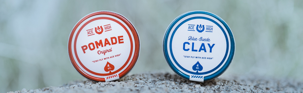 Ace High Pomade Styling Product Water Based Strong Hold Matte Shine