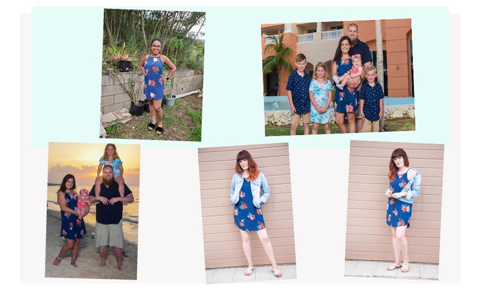 beach dress blue