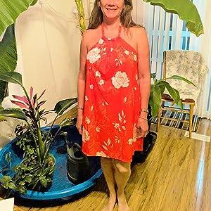 orange beach dress