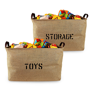 Jute Storage Baskets, basket ,bins, bin, blanket storage, toy storage, pet toy storage, box,  bag
