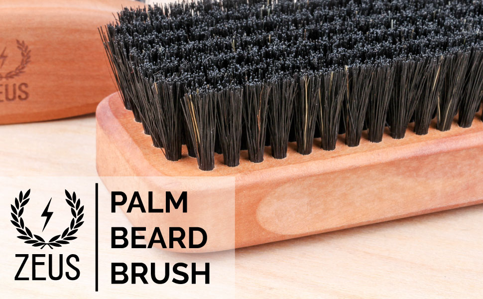 Zeus Palm Beard Brush Soft Second cut bristles