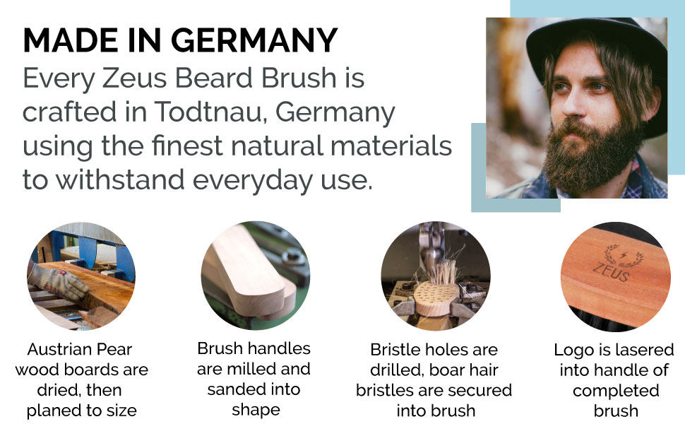 made in germany quality beard brush