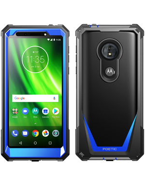 Moto G6 Play Case, Moto G6 Forge Case, Poetic Guardian [Scratch Resistant Back] Full-Body Rugged Clear Hybrid Bumper Case with Built-in-Screen ...