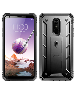 LG Stylo 4 Case, LG Stylo 4 Plus Case, Poetic Revolution [360 Degree Protection][Kick-Stand][Built-in-Screen Protector] Full-Body Rugged Heavy Duty ...