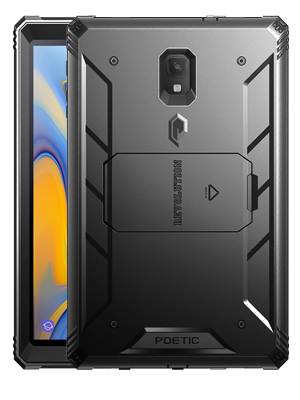 Galaxy Tab A 10.5 Ruggd Case with KickStand, Samsung Model SM-T590/T595/ T597 2018 Released, Built-in-Screen Protector, Revolutions Series, Poetic ...