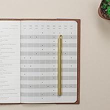 open flat notebook