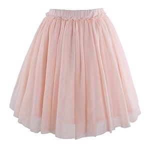 8afb2d336 Amazon.com: Flofallzique Tulle Tutu Girls Skirt 1-12 Years Old ...