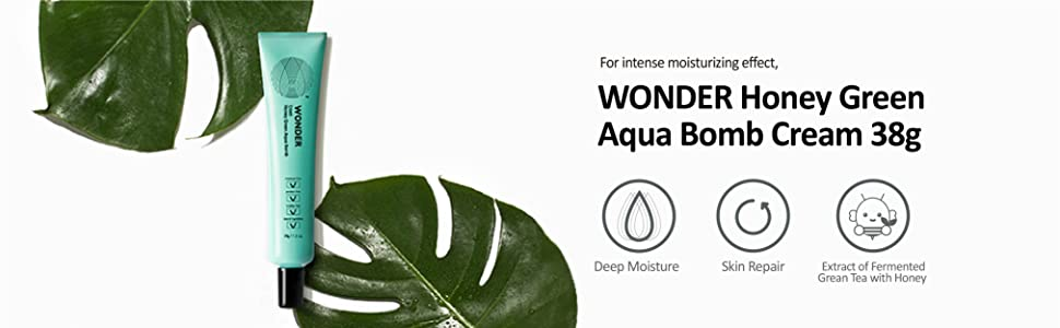 wonder honey green aqua bomb cream 38g