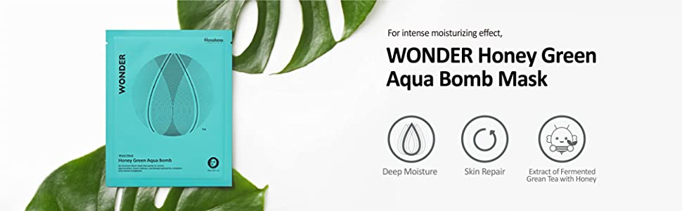 WONDER honey green aqua bomb mask