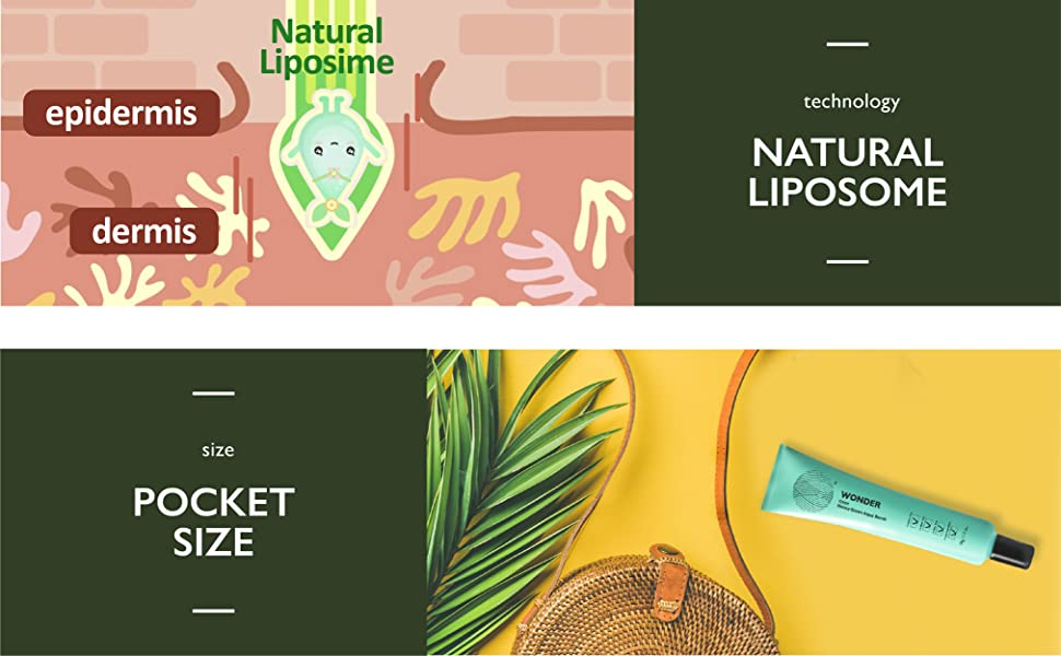 key ingredients, natural liposome, pocket size
