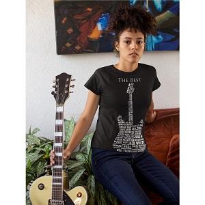 Guitar Legends 1959 American Standard Unisex T-Shirt Cotton Shirts Men Women Clothing Classic Music