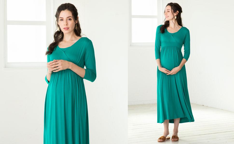 maternity and nursing maxi dress