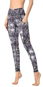 Amazon.com: MTSCE Printed Yoga Pants High Waist Fitness ...